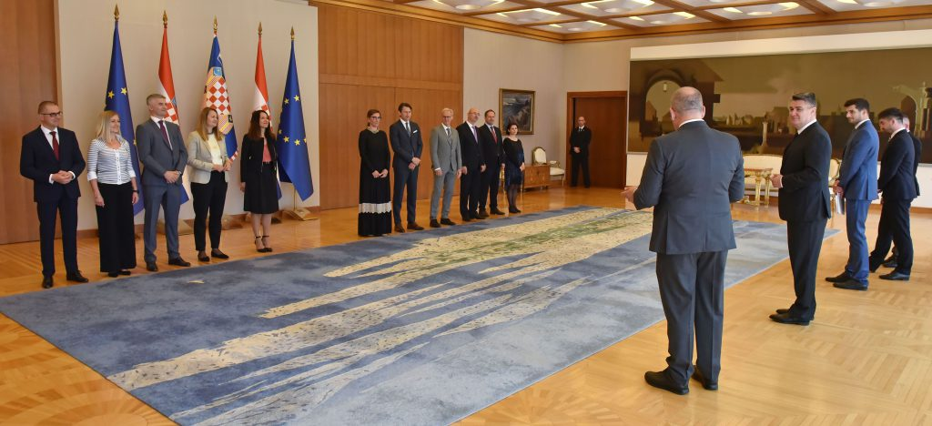 Izaslanstvo HR PSOR-a na prijemu kod predsjednika Republike 2 - hrpsor Hrvatski poslovni savjet za održivi razvoj