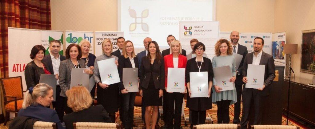 Novi potpisnici Povelje o raznolikosti Hrvatska 1 - hrpsor Hrvatski poslovni savjet za održivi razvoj